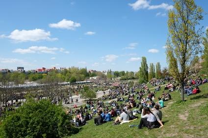 Un jour d'èté à Mauerpark - ville de Berlin -Allemagne