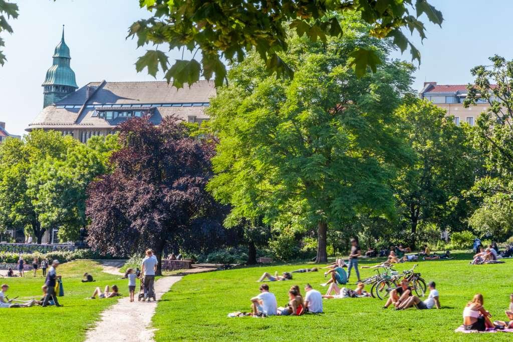 Sommer-in-Berlin-am-Weinberg Park Mitte