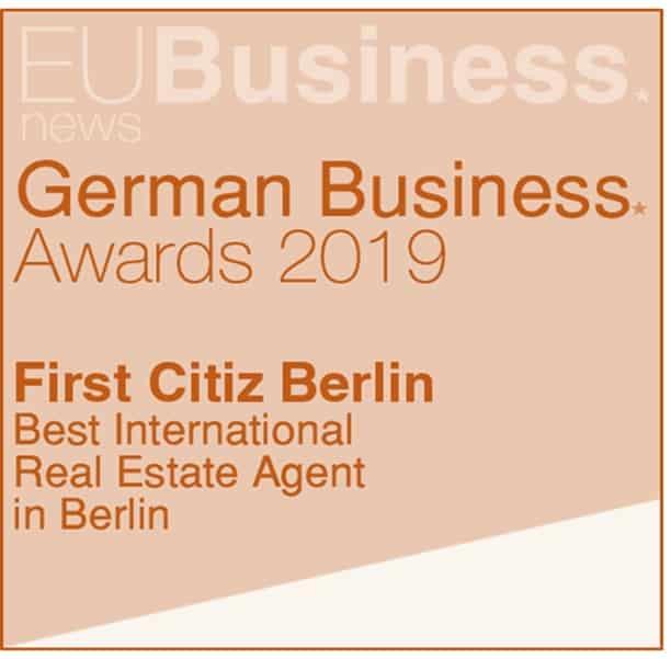 Награда - Лучшее международное агентство недвижимости в Берлине