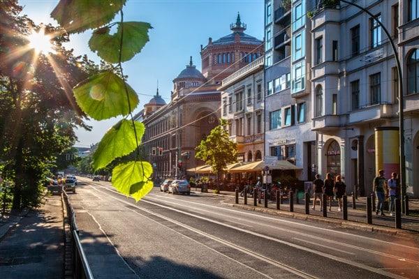 Oranienburger street in Berlin Mitte