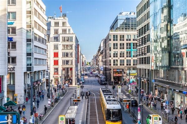 Friedrichshstrasse, the commercial avenue of Berlin Mitte